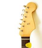 Kopf der elektrischen Gitarre Stockfotografie