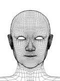Kopf der Person von einem Rasterfeld 3d vektor abbildung