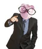 Kopf der Piggy Querneigung Lizenzfreies Stockfoto