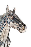 Kopf der silbernen Pferdestatue Lizenzfreie Stockbilder