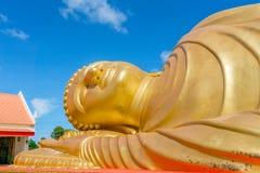 Kopf der Statue Schlafens Buddha Lizenzfreies Stockfoto