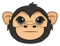 Kopf des Affen ohne irgendein Gefühl stock abbildung