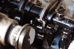 Kopf des Dieselmotors Lizenzfreie Stockfotos