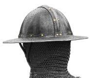 Kopf des mittelalterlichen Soldaten Stockfoto