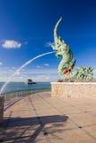 Kopf des Naka Statue-Spraywassers stockfotografie