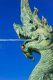 Kopf des Naka Statue-Spraywassers stockfotos