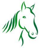 Kopf des Pferdevektors Stockfoto