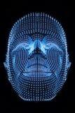 Kopf des Roboters stockfotos
