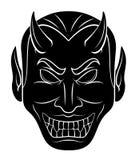 Kopf des roten Teufels stock abbildung
