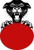Kopf des schwarzen Panthers Lizenzfreies Stockbild