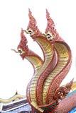 Kopf drei von König Naga, Thailand stockfotografie