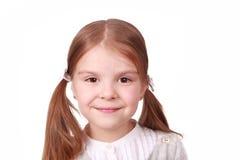Kopf eines kleinen Mädchens Stockbilder