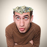 Kopf eines Mannes und seines Verstandes. Lizenzfreie Stockbilder