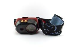Kopf-eingehangene Taschenlampe Lizenzfreies Stockfoto