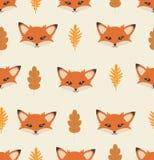 Kopf Fox mit unterschiedlichem Elementmuster Stockfotos