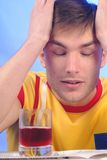 Kopf Hurts im Kerl Lizenzfreies Stockbild