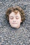 Kopf im Boden 01 Stockbilder
