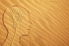 Kopf im Sand Lizenzfreie Stockfotografie
