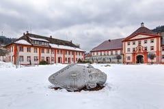 Kopf im Skulpturenpark im Heiligen Blaise Lizenzfreies Stockfoto