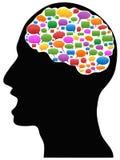 Kopf mit Sprache-Blasen Stockbilder