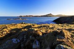 Kopf St. Davids über Whitesands-Bucht Lizenzfreie Stockbilder