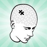 Kopf-und Sinnespuzzlespiel Stockbilder
