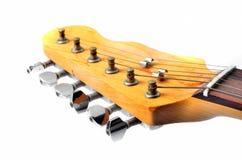 Kopf und Stutzen einer elektrischen Gitarre Stockbild