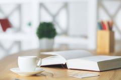 Kopf voll der Bücher getrennt auf weißem Hintergrund Stockfotografie