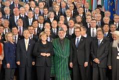 Kopfdelegierte bei der Afghanistan-Konferenz Stockfotografie