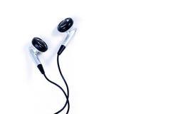 Kopfhörer auf weißem Hintergrund Lizenzfreies Stockbild