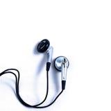 Kopfhörer auf weißem Hintergrund Lizenzfreies Stockfoto