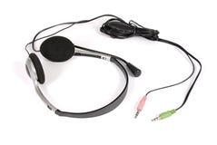 Kopfhörer einer auf Weiß Lizenzfreies Stockfoto