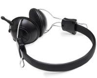 Kopfhörer eingestellt mit Mikrofon Stockbild