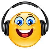 Kopfhörer Emoticon stock abbildung