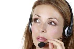 Kopfhörer-Geschäfts-Mädchen Stockfotografie