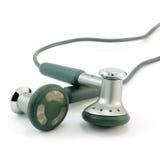 Kopfhörer getrennt auf einem Weiß Stockfotografie