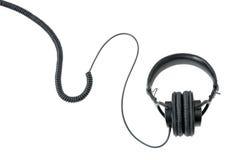 Kopfhörer getrennt auf Weiß Stockfotografie