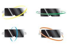 Kopfhörer-Ikonen der virtuellen Realität stock abbildung