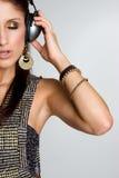 Kopfhörer-Mädchen lizenzfreies stockbild