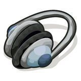 Kopfhörer mit Ausschnittspfad Lizenzfreies Stockfoto