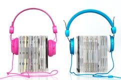 Kopfhörer mit Cd Lizenzfreie Stockbilder