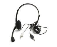 Kopfhörer mit Mikrofon Lizenzfreie Stockbilder