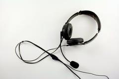 Kopfhörer mit Mikrofon Stockfotos