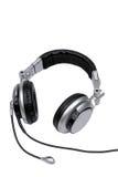Kopfhörer mit Mikrophonen. Lizenzfreies Stockfoto