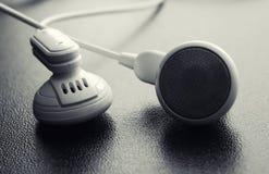 Kopfhörer schließen oben Lizenzfreies Stockfoto