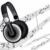 Kopfhörer und Anmerkungen vektor abbildung