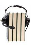 Kopfhörer und Bücher Lizenzfreie Stockfotografie