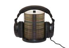 Kopfhörer und Cd Stockfotografie