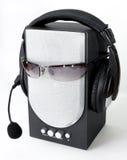 Kopfhörer und Lautsprecher Lizenzfreie Stockfotos