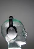 Kopfhörer von der Seite stockfoto